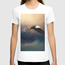 Painting flying american bald eagle T-shirt