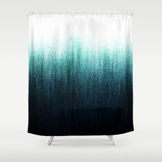 Teal Ombré Shower Curtain