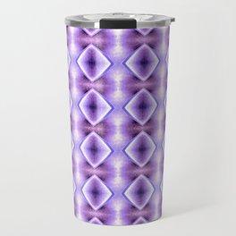 Blue Purple Geometric Diamond Pattern Design Travel Mug