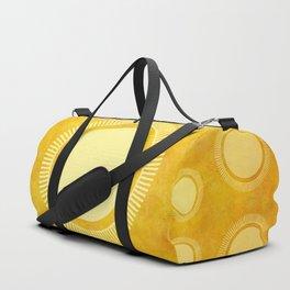 """Gold & Yellow Ethnic Sun Mandala"" Duffle Bag"
