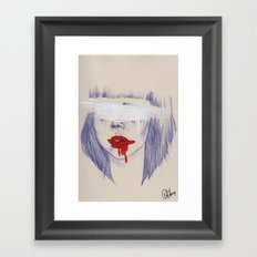 Damaged hearts Framed Art Print