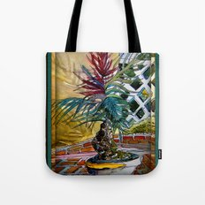 Sunny Palm Tree Tote Bag