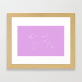 Beagle (White) Framed Art Print