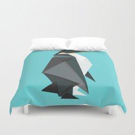Fractal geometric emperor penguin Duvet Cover