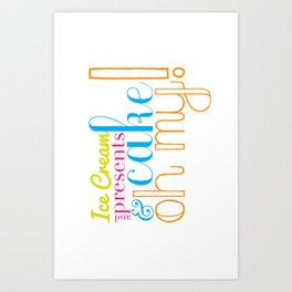 Funny Birthday Card Art Print