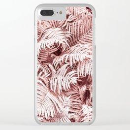 Fern Bush Blush Pink | Bedroom Art Clear iPhone Case