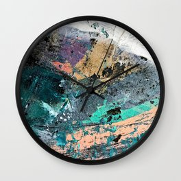 01011: colorful, abstract, wild, and unique Wall Clock