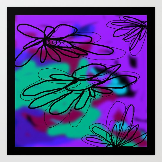 Flower and Water Three Art Print