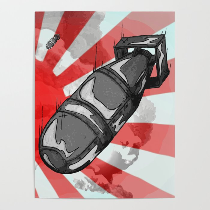 atom bomb fat boy poster by dandyv society6