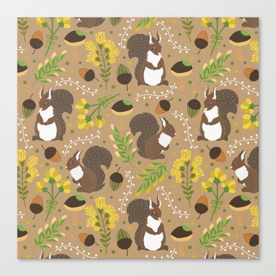 Chocolate squirrels Canvas Print