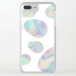 MAGZ Art Marbled Eggs Clear iPhone Case