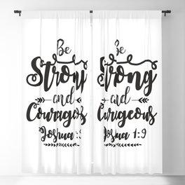 Joshua 1:9 Blackout Curtain