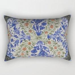 Dish with Floral Designs Rectangular Pillow