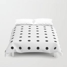 Black dots on white Duvet Cover