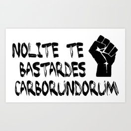 Nolite te bastardes Carborundorum - Handmaid's Tale Art Print