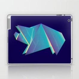 Neon origami pig Laptop & iPad Skin