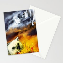 Hati and Skoll Stationery Cards