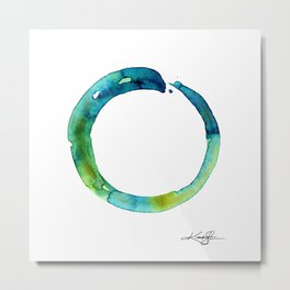 Enso Of Zen No. 19 by Kathy Morton Stanion Metal Print