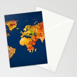 World Map 41 Stationery Cards