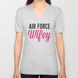 Air Force Wifey Quote Unisex V-Neck