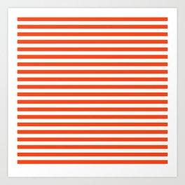Florida fan gators university orange and blue team spirit football college sports stripes Art Print