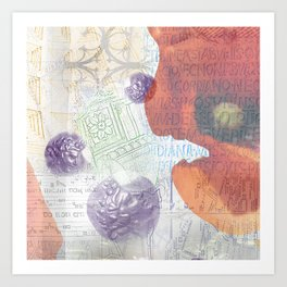 Memories of Italia (cropped) Art Print