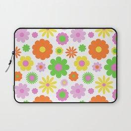 Vintage Daisy Crazy Floral Laptop Sleeve