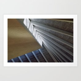 Lines and light Art Print
