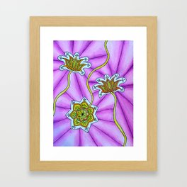 Lotus Flowers Framed Art Print