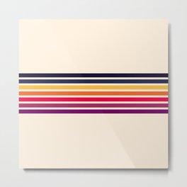 Imera - Classic 70s Vintage Style Retro Stripes Metal Print