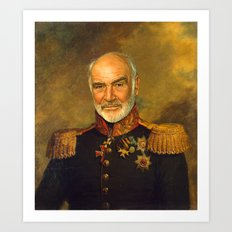 Sir Sean Connery - replaceface Art Print