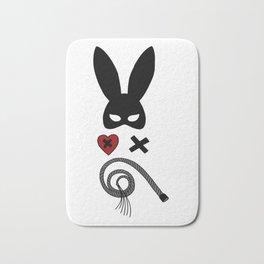 bdsm couple sadomaso mask whip Bunny ears Present Bath Mat