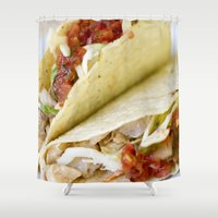 taco Shower Curtains featuring Taco  by Spotted Heart