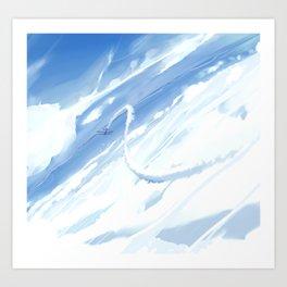 Lone Acrobat Art Print