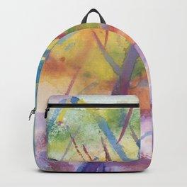 Spring landscape watercolor Backpack