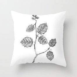 Gray alder Throw Pillow