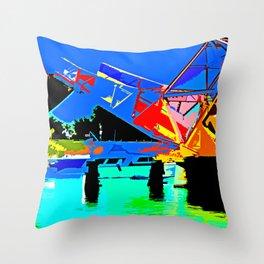 Sacramento Delta Draw Bridge Throw Pillow