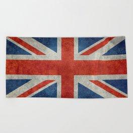 "UK British Union Jack flag ""Bright"" retro Beach Towel"