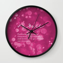 Moxie Definition - Pink Bokeh Wall Clock