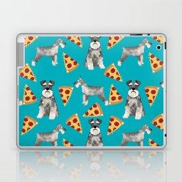 schnauzer pizza dog breed pet pattern dog mom Laptop & iPad Skin