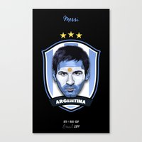 messi Canvas Prints featuring Messi by Rudi Gundersen