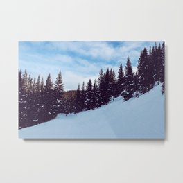 Skiing the Slopes Metal Print