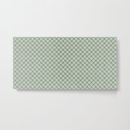 Green Checkered Pattern Metal Print