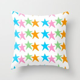 multicolor stars 2-sky,light,rays,hope,pointed,mystical,estrella,nature,spangled,girly,gentle,star Throw Pillow