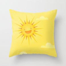 Happy Sun Throw Pillow