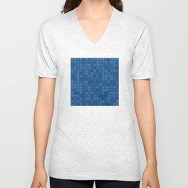 november blue geometric pattern Unisex V-Neck