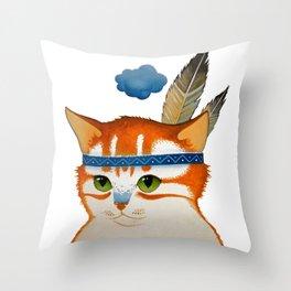 LITTLE QUIET CLOUD by Raphaël Vavasseur Throw Pillow