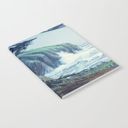 WINDSWEPT CYPRESS TREES ON THE MENDOCINO COAST CALIFORNIA Notebook