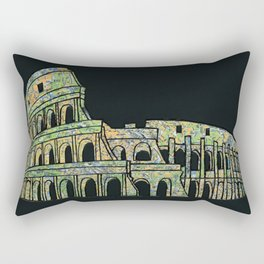Colosseum Collage Rectangular Pillow