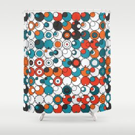 Raw Bubbles Shower Curtain